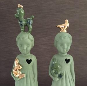 Green doll delftsblue poedel