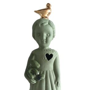 Groen popje goud duif