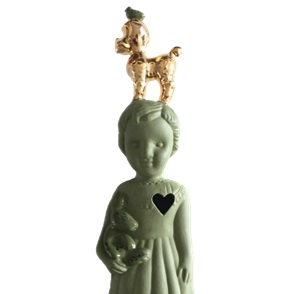 Green doll gold poodle