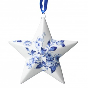 Delft Blue Pendant Star