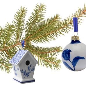 Delftsblauwe Hanger Vogelhuisje