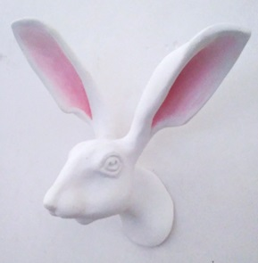 Hare wallsculpture pink