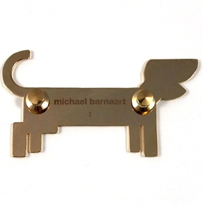 Brooch Dog brown