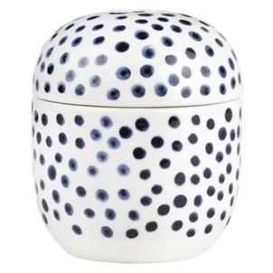 Jar blue dots