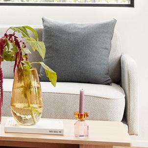 Kandelaar Amber-Pink
