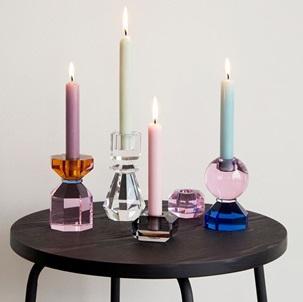 Candleholder set Pink-Smoke