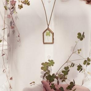 Necklace Four-leaf-clover