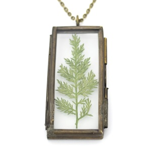 Necklace Fern leaf