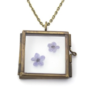 Necklace Forget-me-nots