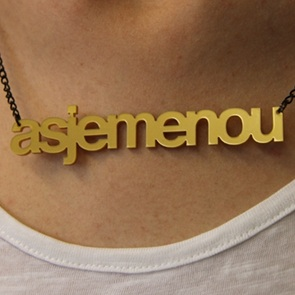 Word Necklace Asjemenou gold