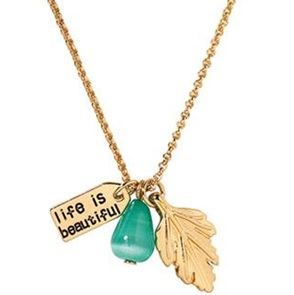 Wish Necklace Leaf