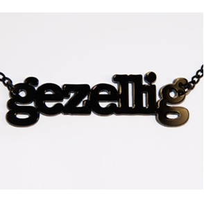 Word Necklace gezellig black