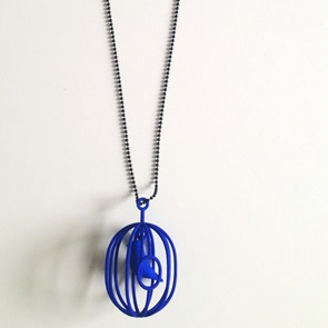 Ketting Happy Bird blauw XL