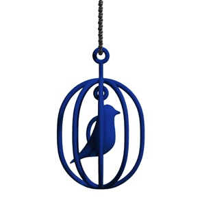 Ketting Happy Bird blauw M