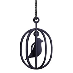 Ketting Happy Bird zwart M