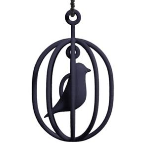 Ketting Happy Bird zwart XL