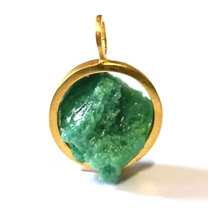 Candy Gem pendant gold green