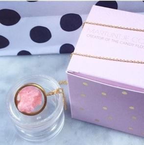 Candy Gem hanger goud licht roze