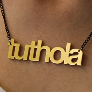 Word Necklace Tuthola gold