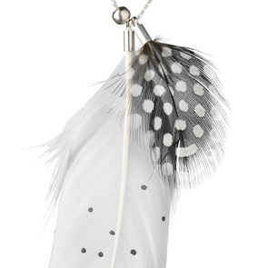 Necklace feather dots