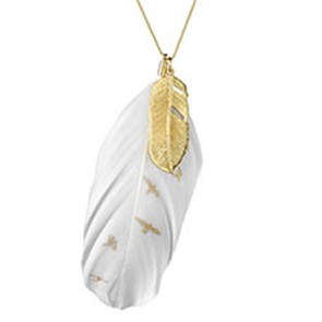 Necklace Feather birds