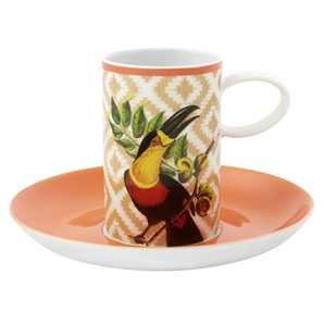 Set 4 Bird Coffee cups