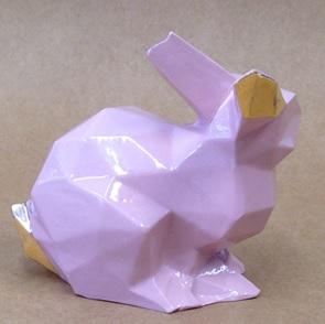 Porcelain bunny pink/gold