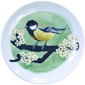 Great tit bird plate