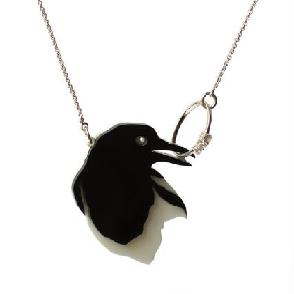 Magpie Necklace with ring