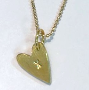 Necklace kiss-heart