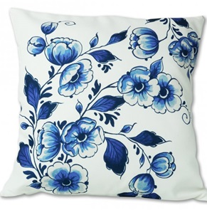 Pillow cover Delfts blue