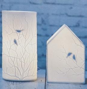 Lamp huisje vogels