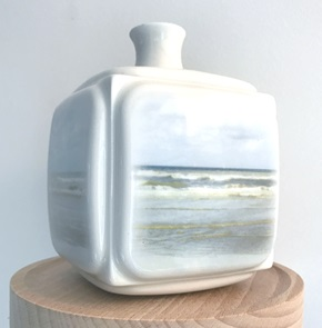 Dutch Landscape vase Beach