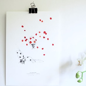 Lady bugs Poster A4