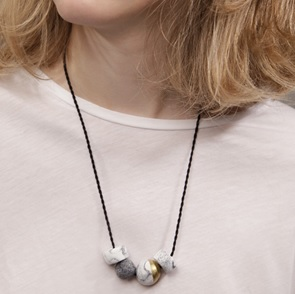 Marble & Gold Necklace