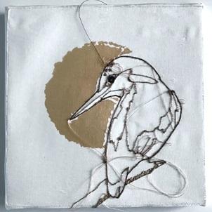 VERKOCHT Kunstwerkje Birds 3
