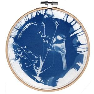 VERKOCHT Blue bird 1 L Kunstwerkje