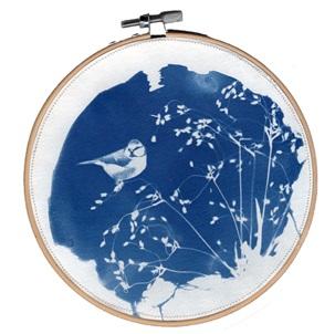 VERKOCHT Blue bird 3 L Kunstwerkje