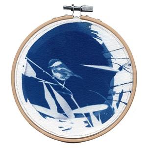 VERKOCHT Blue bird 1 M Kunstwerkje