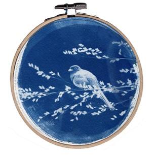 VERKOCHT Blue bird 2 M Kunstwerkje