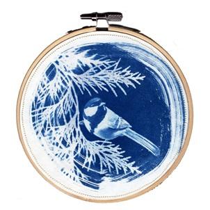 VERKOCHT Blue bird 3 M Kunstwerkje