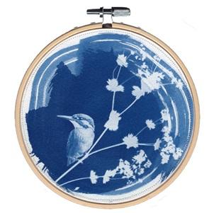 VERKOCHT Blue bird 4 M Kunstwerkje