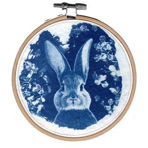 VERKOCHT Blue Rabbit 5 M Kunstwerkje
