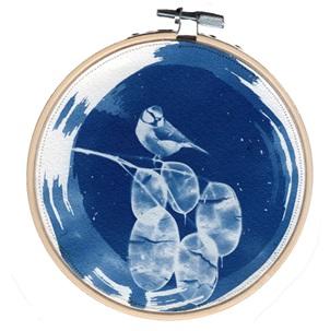 VERKOCHT Blue bird 7 M Kunstwerkje