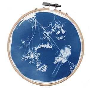 VERKOCHT Blue bird 9 M Kunstwerkje