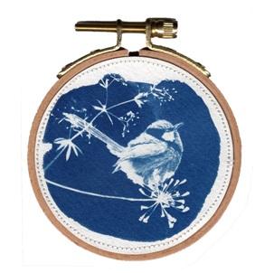 VERKOCHT Blue bird 1 S Kunstwerkje