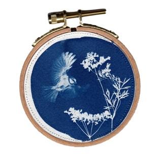 VERKOCHT Blue bird 2 S Kunstwerkje