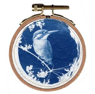 VERKOCHT Blue bird 3 S Kunstwerkje