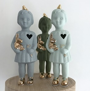 Mini doll Open heart grey