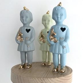 Mini popje Open heart lichtblauw